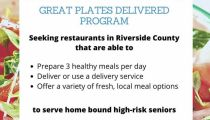 Riverside County Is Seeking Restaurants Who Want To Serve Seniors