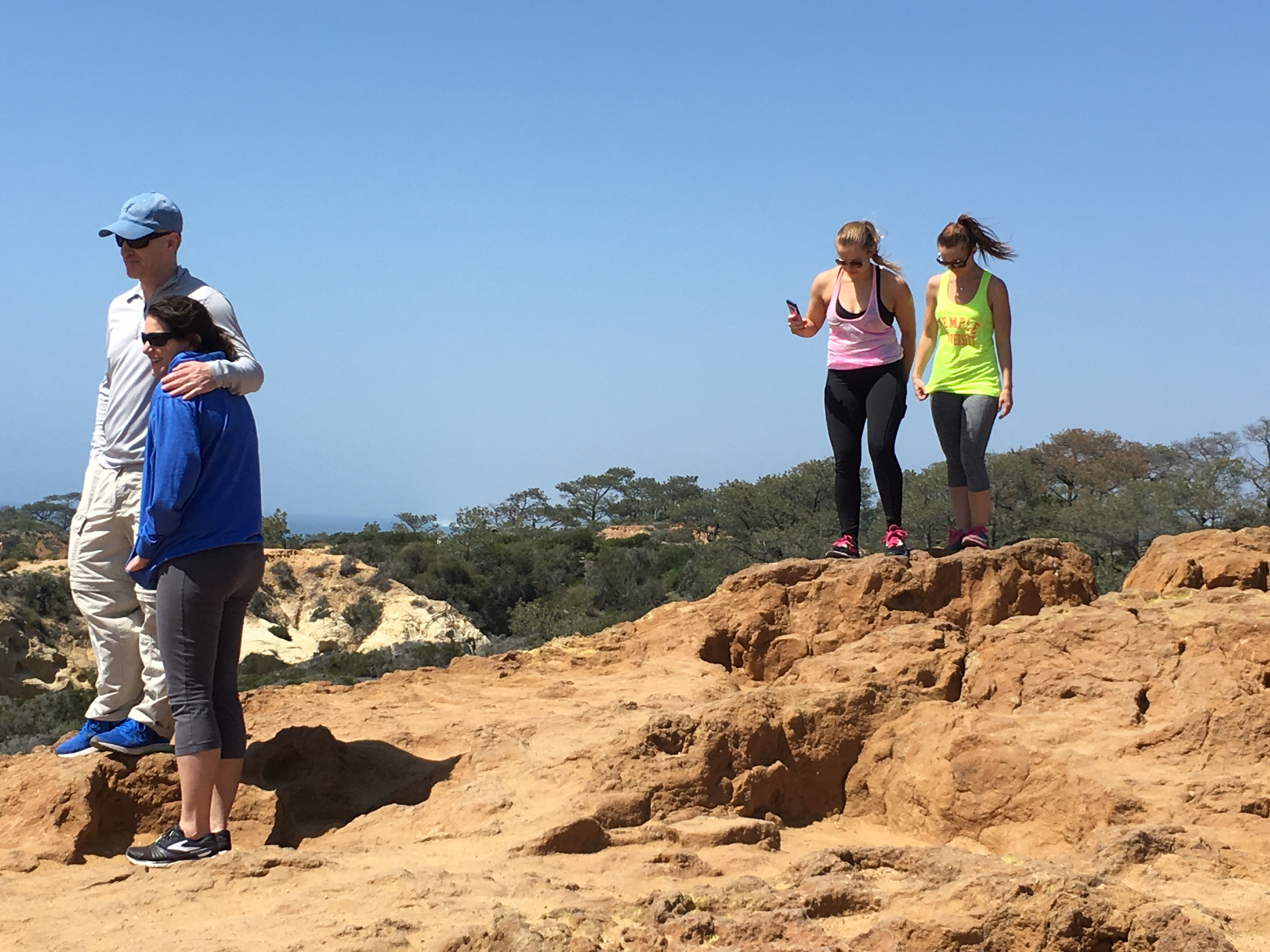 Hiking at Torrey Pines can be hard on the back and knees