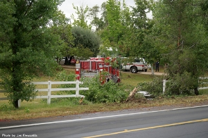 Fire engine 84 involved in an accident on Ynez Road