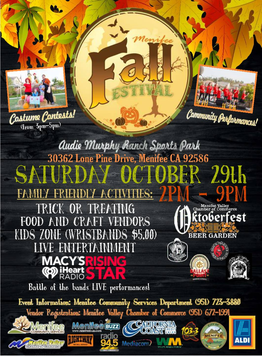 Menifee Fall Festival Flyer