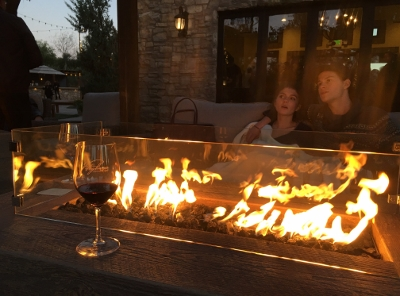 Fire pit at a winery