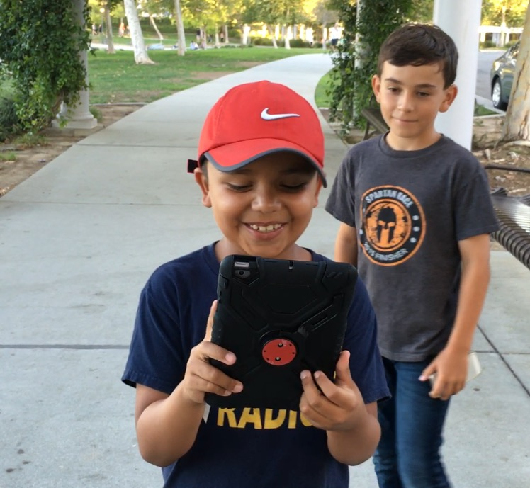 Pokeman Go is a hit with kids