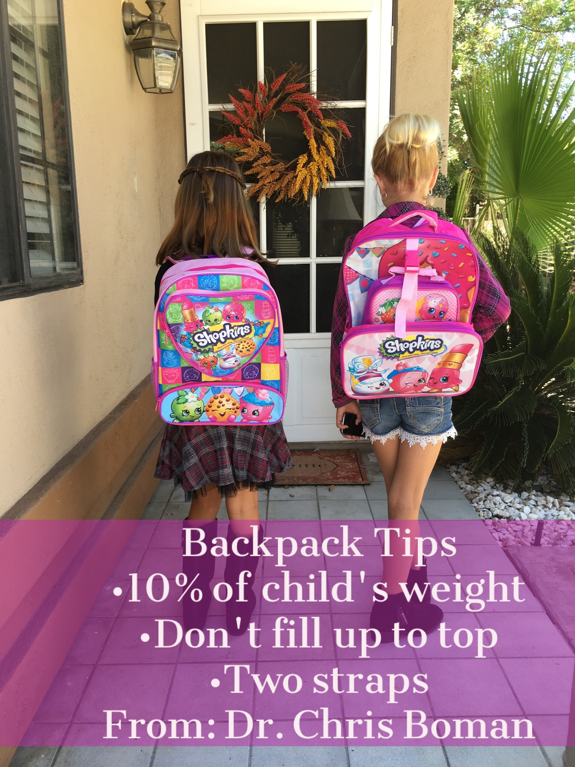 Backpack safety tips